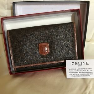 Céline UNUSED Vintage Macadam Wallet In Box